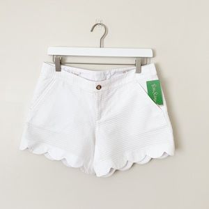 NWT Lilly Pulitzer | White Buttercup Scallop Short